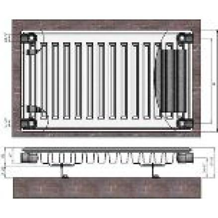 Radiators 11x500x1000 sānu piesl. Termolux