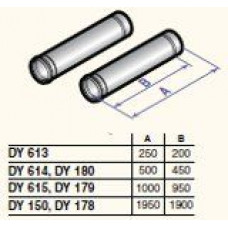 Dūmvada gargabali D80, 1000mm (2 gab.), DY615