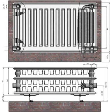 Radiators 33x200x1600 VCO Termolux