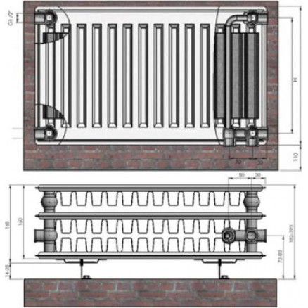 Radiators 33x200x800 VCO Termolux