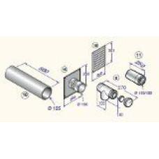 Katla dūmvadu komplekts D110/150, DY914