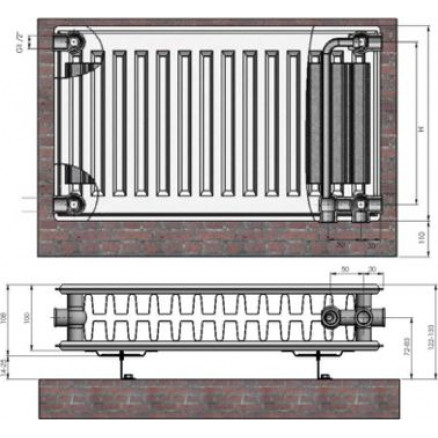 Radiators 22x600x1400 VCO Termolux