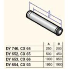 Dūmvada gargabals D60/100 1000mm, DY653
