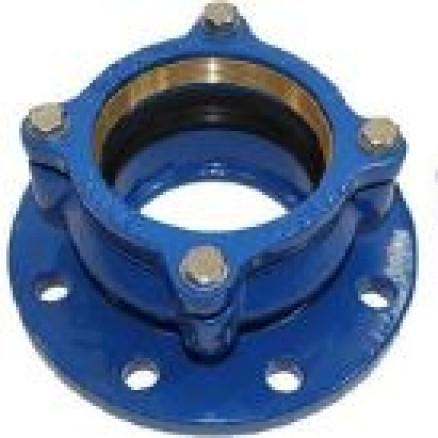 Adapt. PVC/PE caurulei, enkurojošs Dn100, D125mm