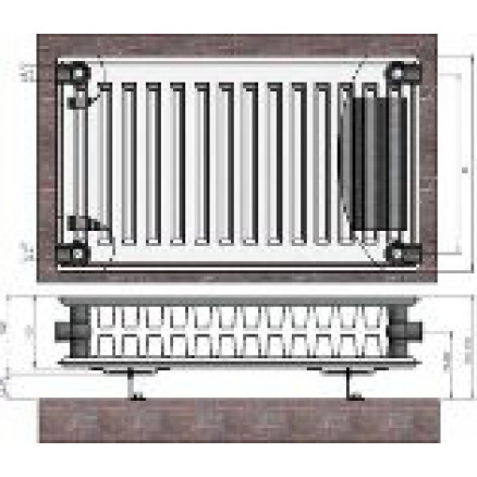 Radiators 22x500x1600 sānu piesl. Termolux