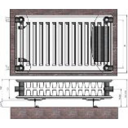 Radiators 22x600x500 sānu piesl. Termolux
