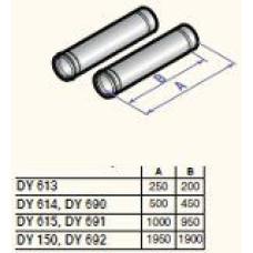 Dūmvada gargabali D60, 1000mm (2 gab.), DY691