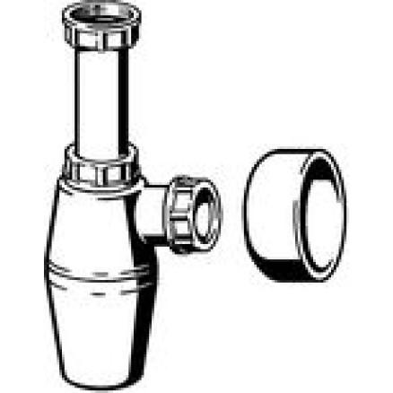 Sifons glāze ar rozeti, bez caurules 1 1/2''xD40mm