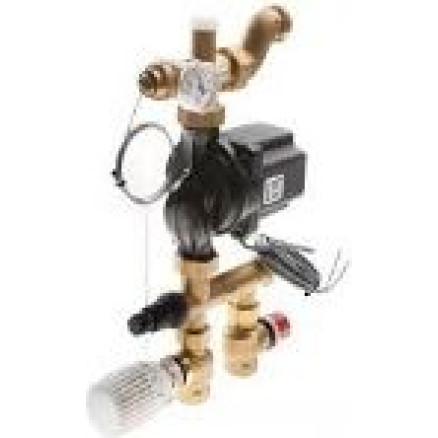 TECEfloor sajaukšanas mezgls ar termostata galvu