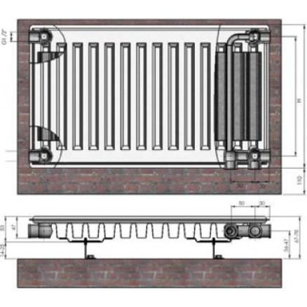 Radiators 11x500x1100 Ventil Compact Termolux