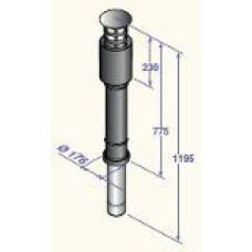 Dūmvads koaksiālais vertikālais D110/150, DY845