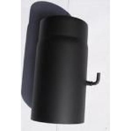 Melnā dūmvada caurule 250x2mm d120 ar šīberi
